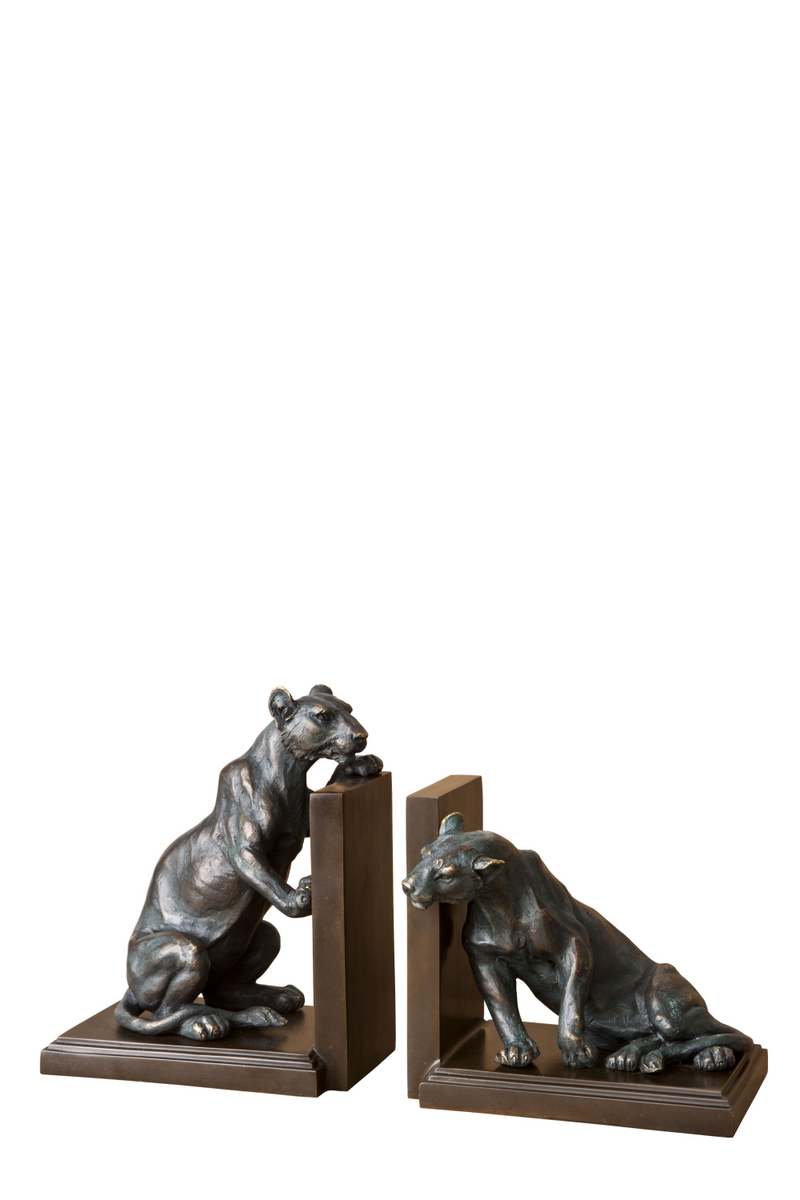 Bronze Bookend Set of 2 | Eichholtz Lioness | OROA Modern Furniture