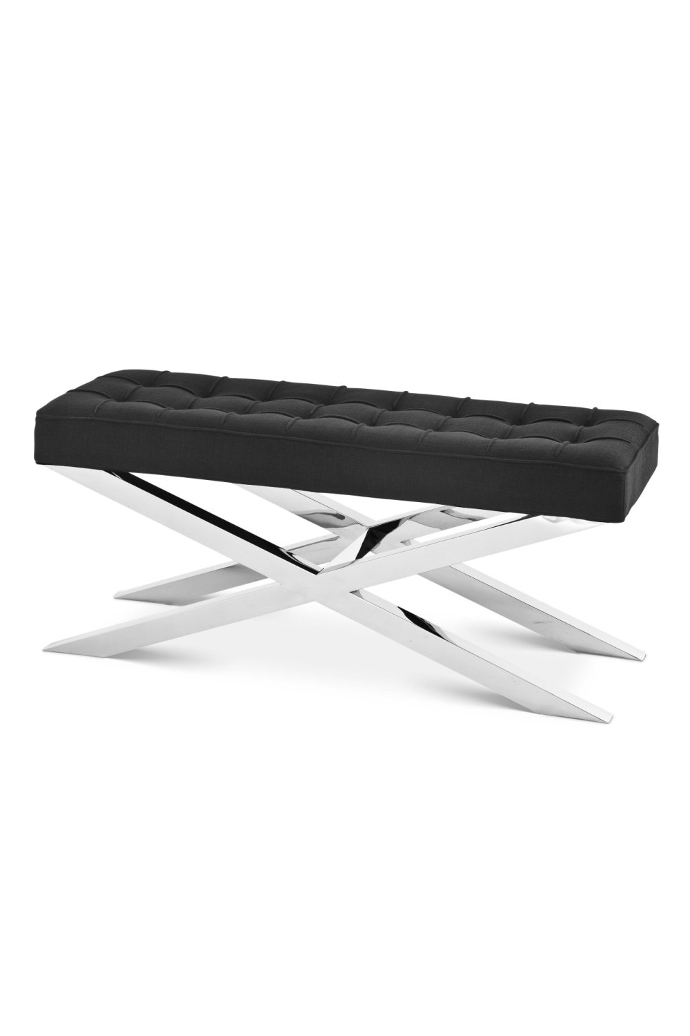 Black Tufted X-Leg Bench | Eichholtz Beekman