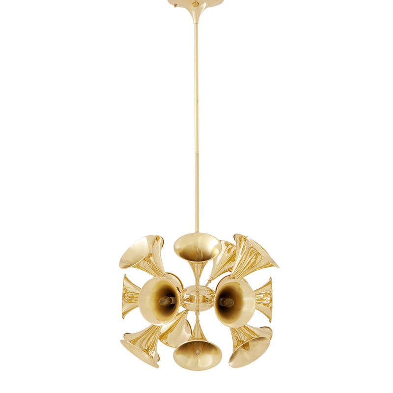 Gold Trumpet Chandelier | Eichholtz Miles Davis | OROA Luxury Lighting