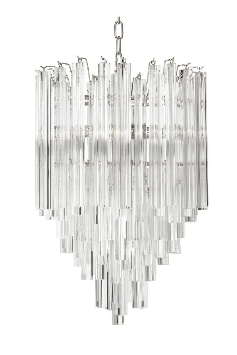 Nickel Glass Chandelier | Eichholtz Salerno | OROA Modern Furniture