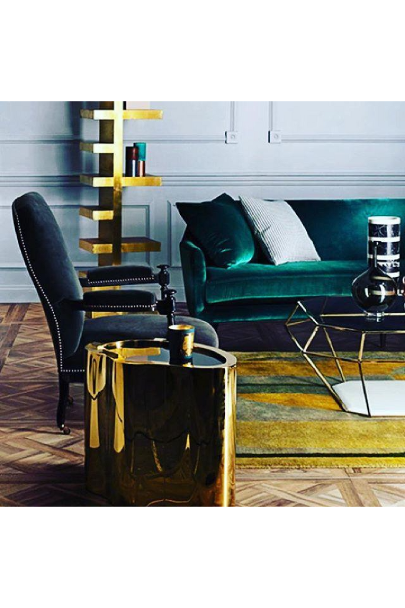Gold & Black Side Table | Eichholtz Gibbons |