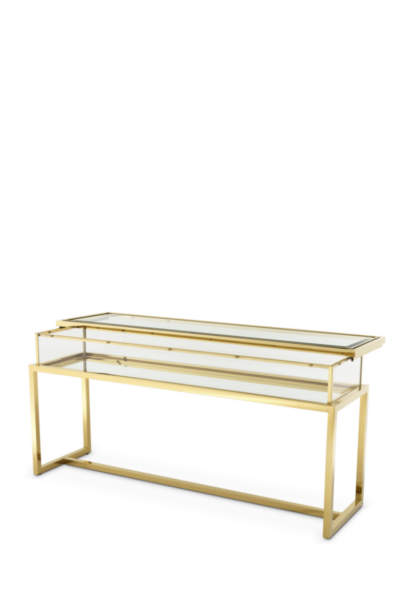 Gold Sliding Top Console Table | Eichholtz Harvey |