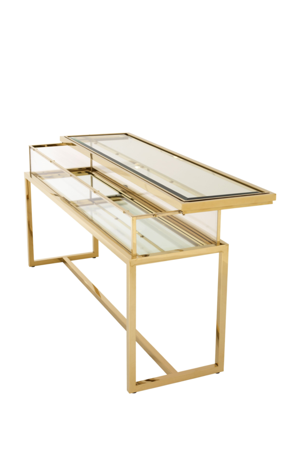 Gold Sliding Top Console Table | Eichholtz | #1 Eichholtz Retailer