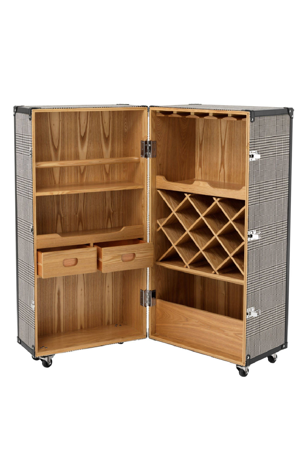 Wheeled Wine Cabinet | Eichholtz Martini Bianco | Wood Furniture