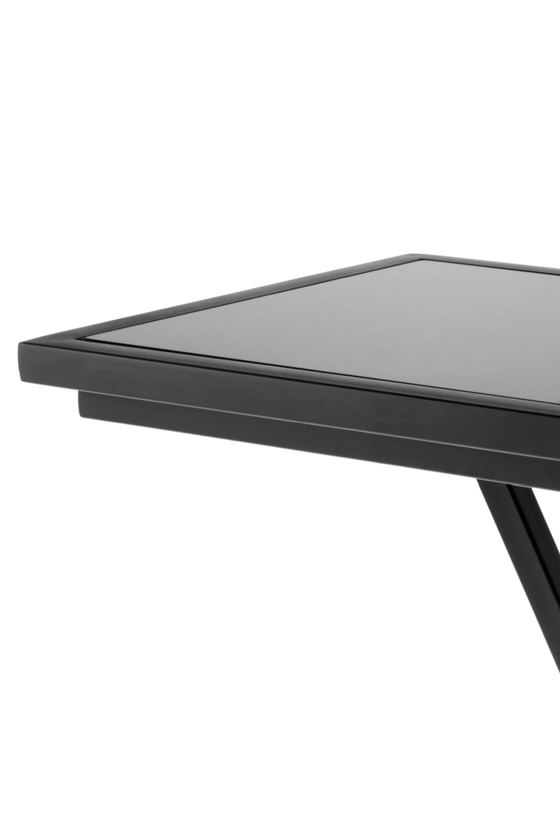 Gunmetal Glass Side Table | Eichholtz Cross