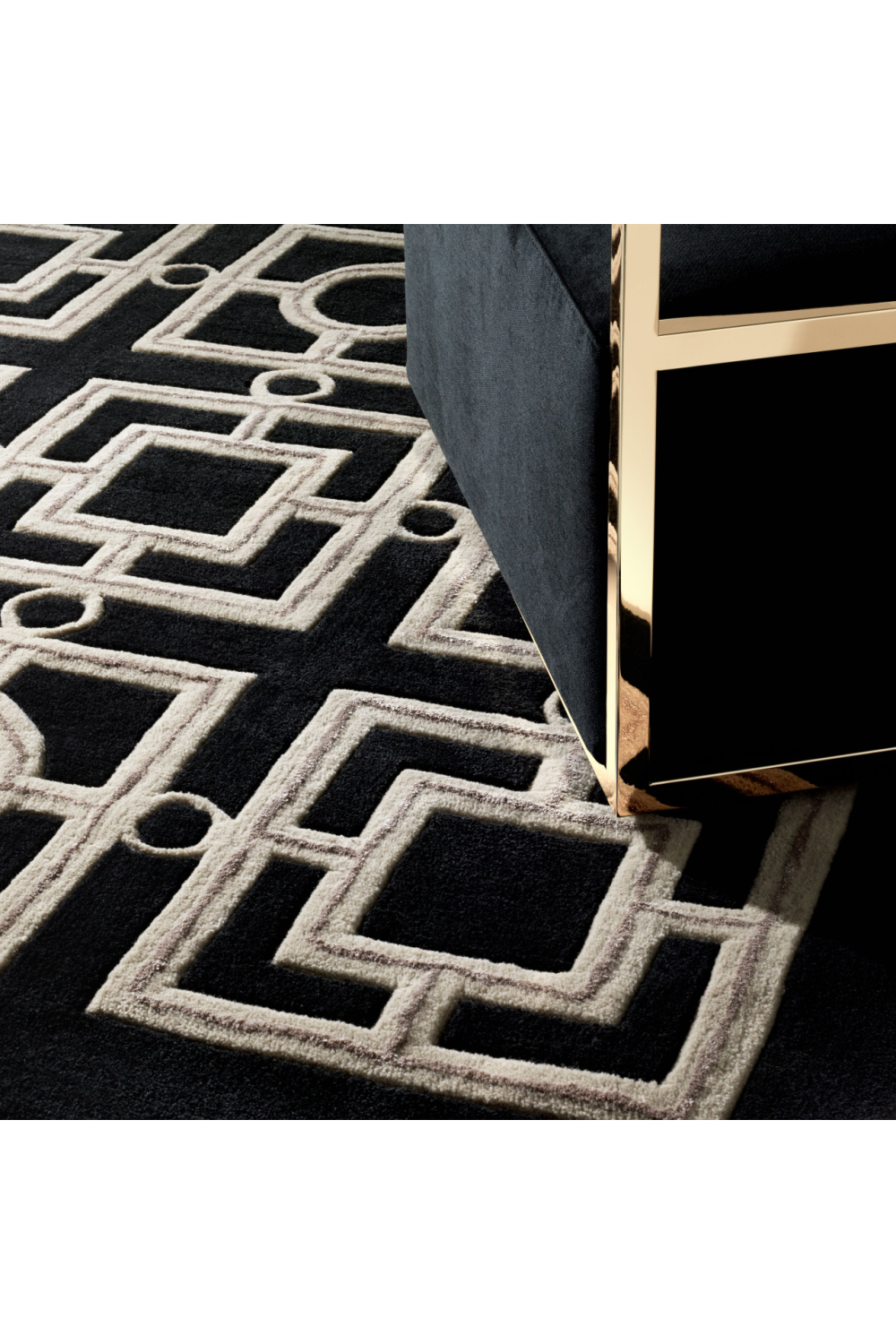 Black Rug | Eichholtz Evans (6x8) | OROA Modern & Luxury Furniture