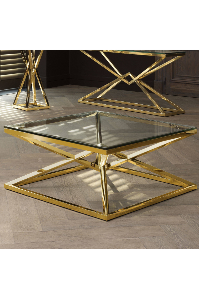 Gold Crossed Leg Coffee Table | Eichholtz Connor | OROA