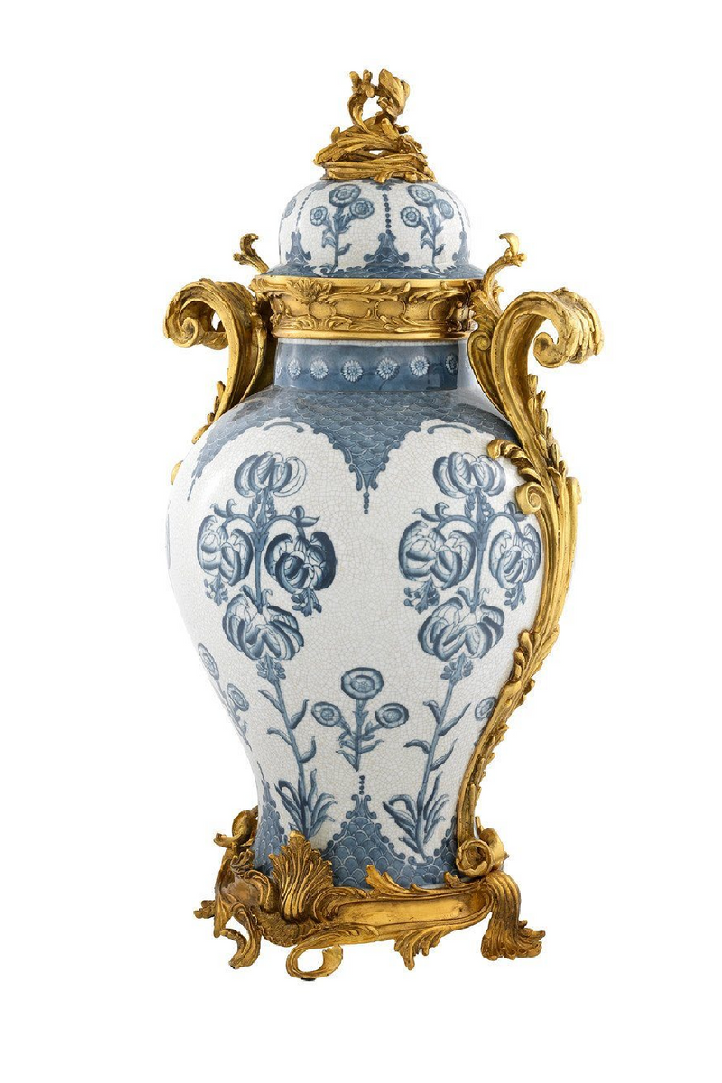 Chinese Ceramic Vase with Gold Trim | Eichholtz Armand