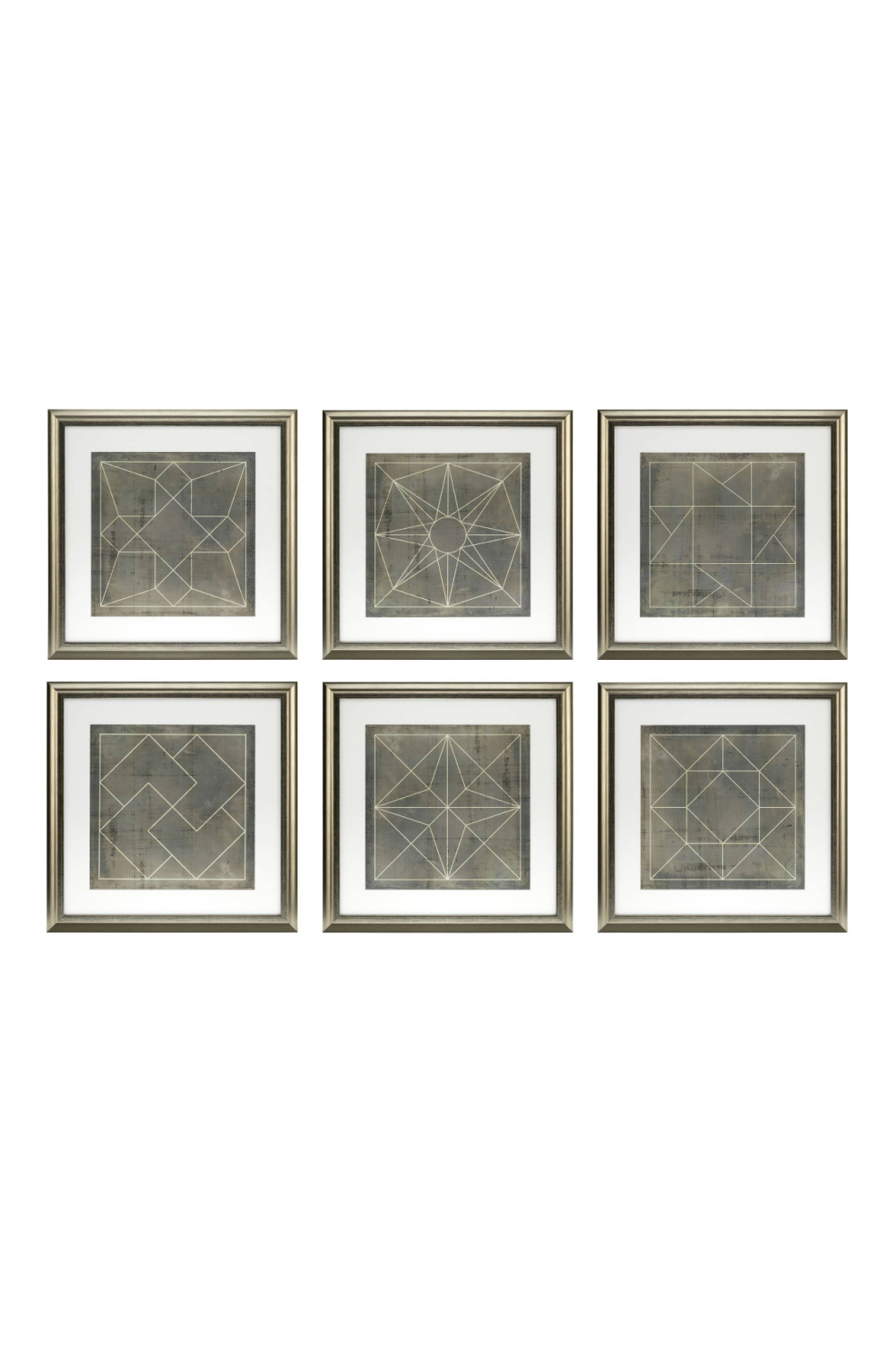 Geometric Print (set of 6) | Eichholtz Blueprints | OROA Furniture