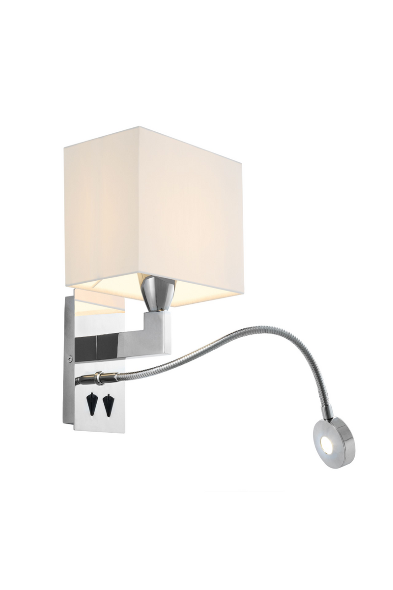 Silver Wall Lamp With Picture Light | Eichholtz Reading | OROA