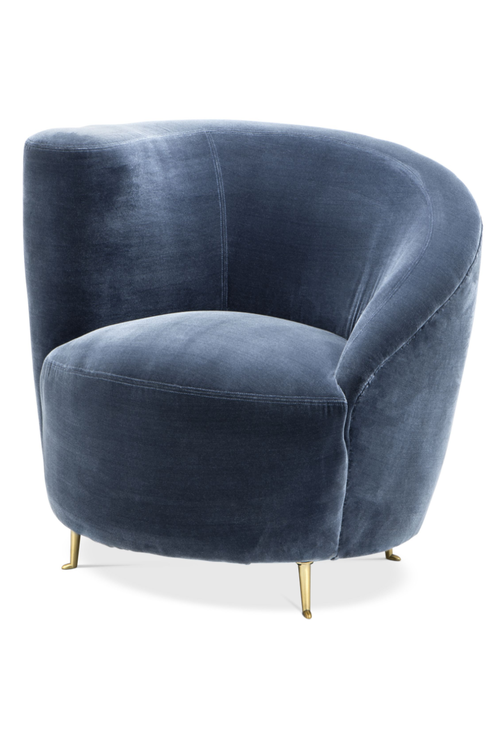 Blue Velvet Curved Back Chair | Eichholtz Khan