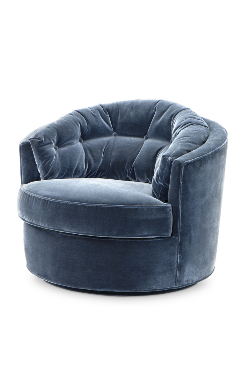 Blue Round Art Deco Chair | Eichholtz Recla