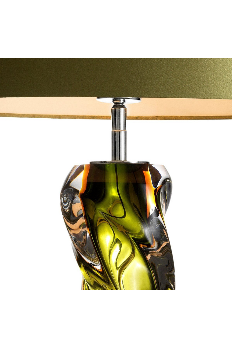 Green Blown Glass Table Lamp | Eichholtz Carnegie | Oroa Luxury Light
