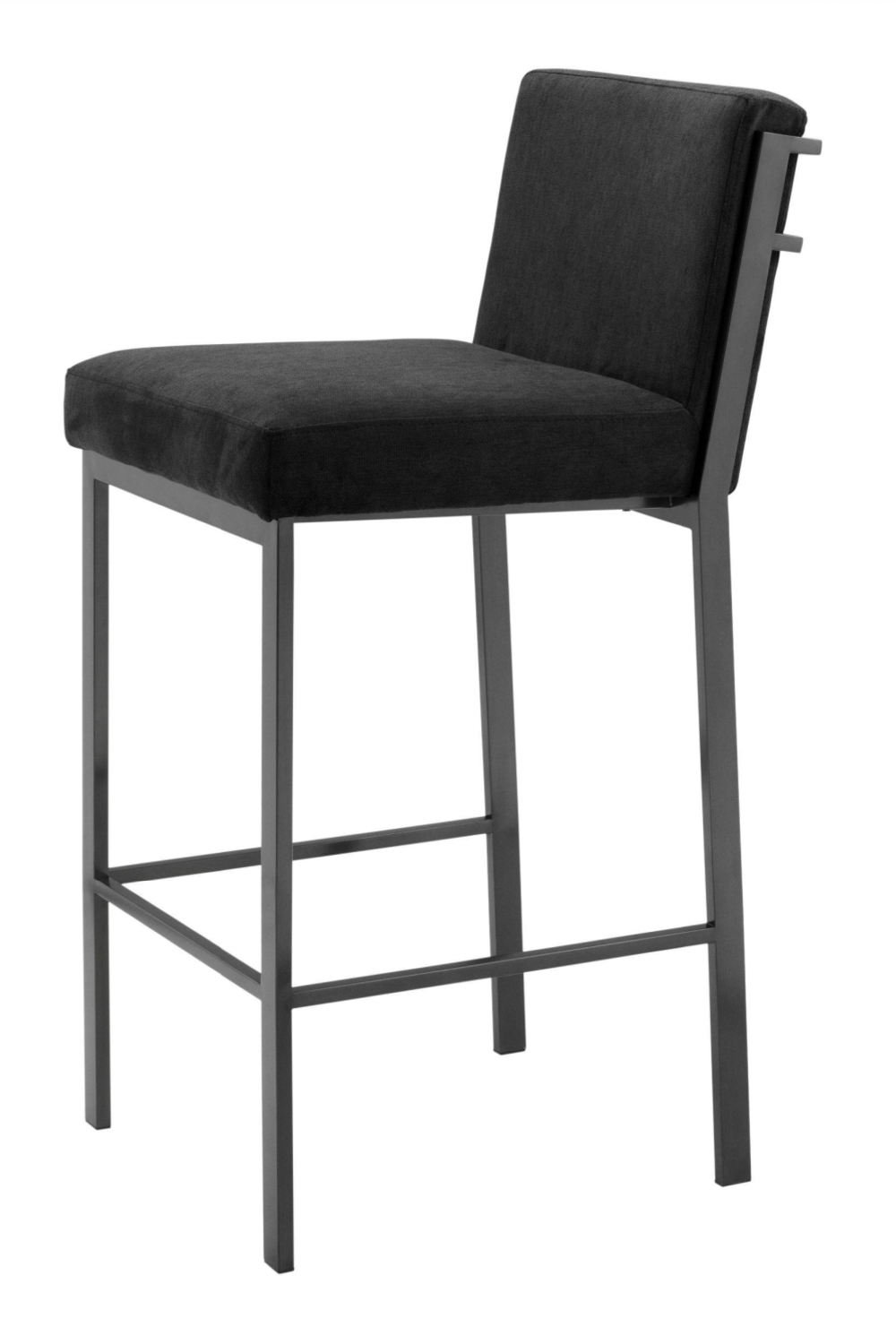 Bronze Black Velvet Bar Stool | Eichholtz Scott