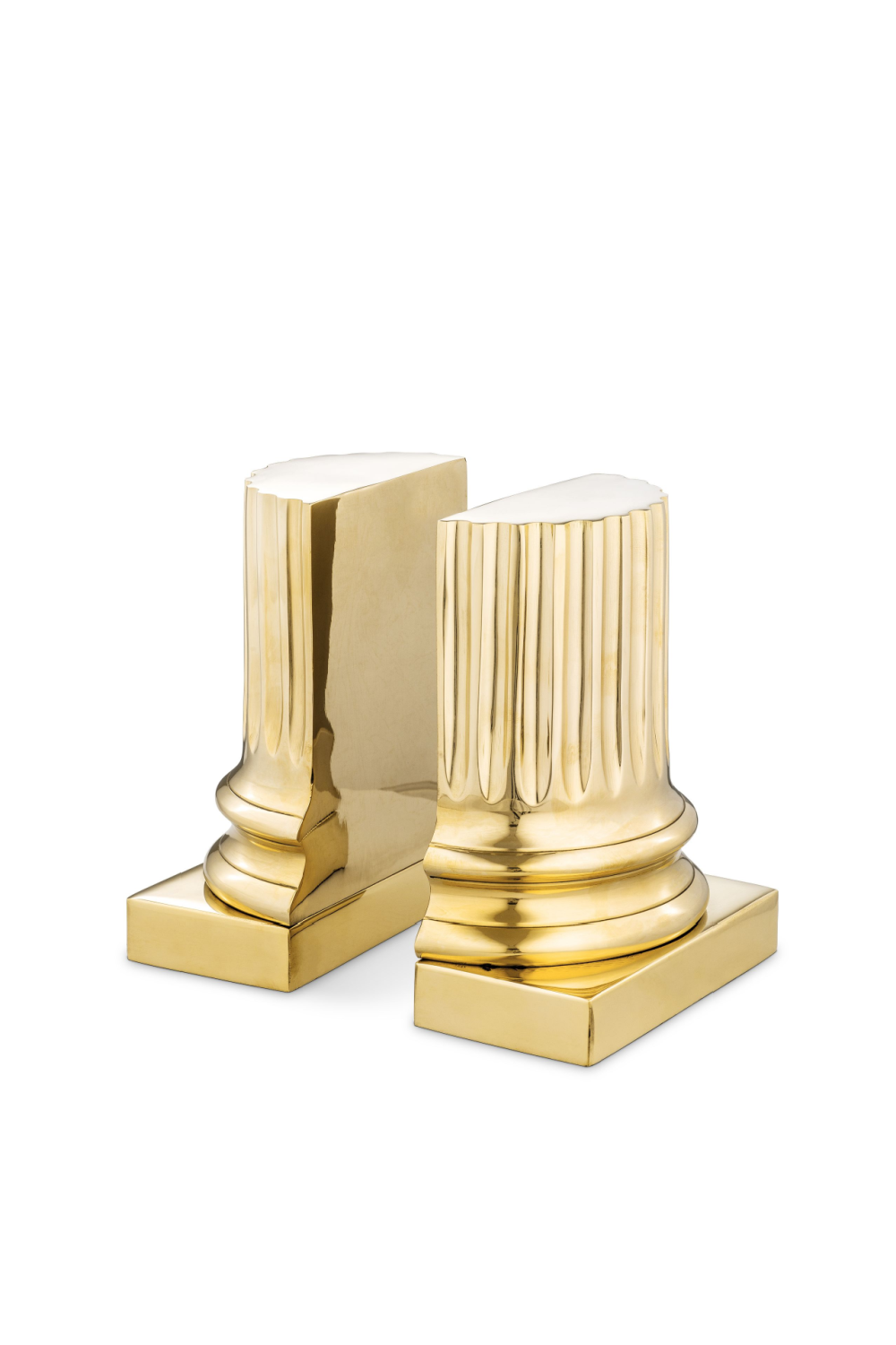 Gold Bookends (set of 2) | Eichholtz Pillar | OROA Modern Furniture