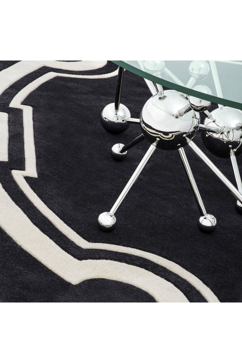 Black and Off White Rug | Eichholtz Palazzo |
