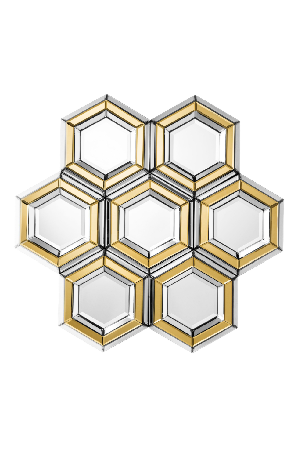 Two-tone Honeycomb Cluster Mirror | Eichholtz Dunello