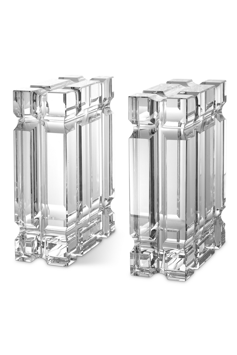 Glass Bookends set of 2 | Eichholtz Linea |