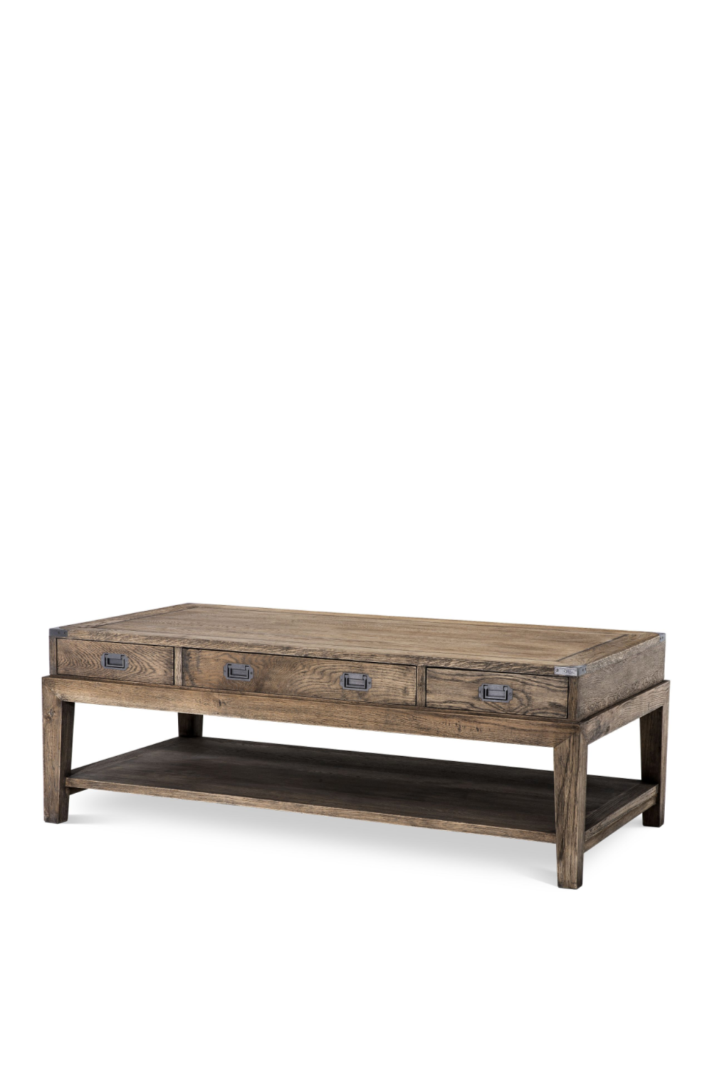 Classic 3 drawer Coffee Table | Eichholtz Military | Woodfurniture.com