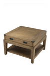 Wooden Side Table   Eichholtz Military   Woodfurniture.com