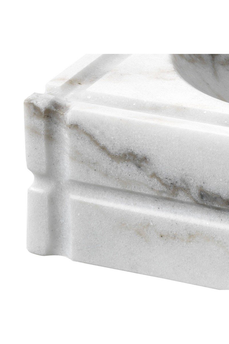 White Marble Ashtray | Eichholtz Nestor |