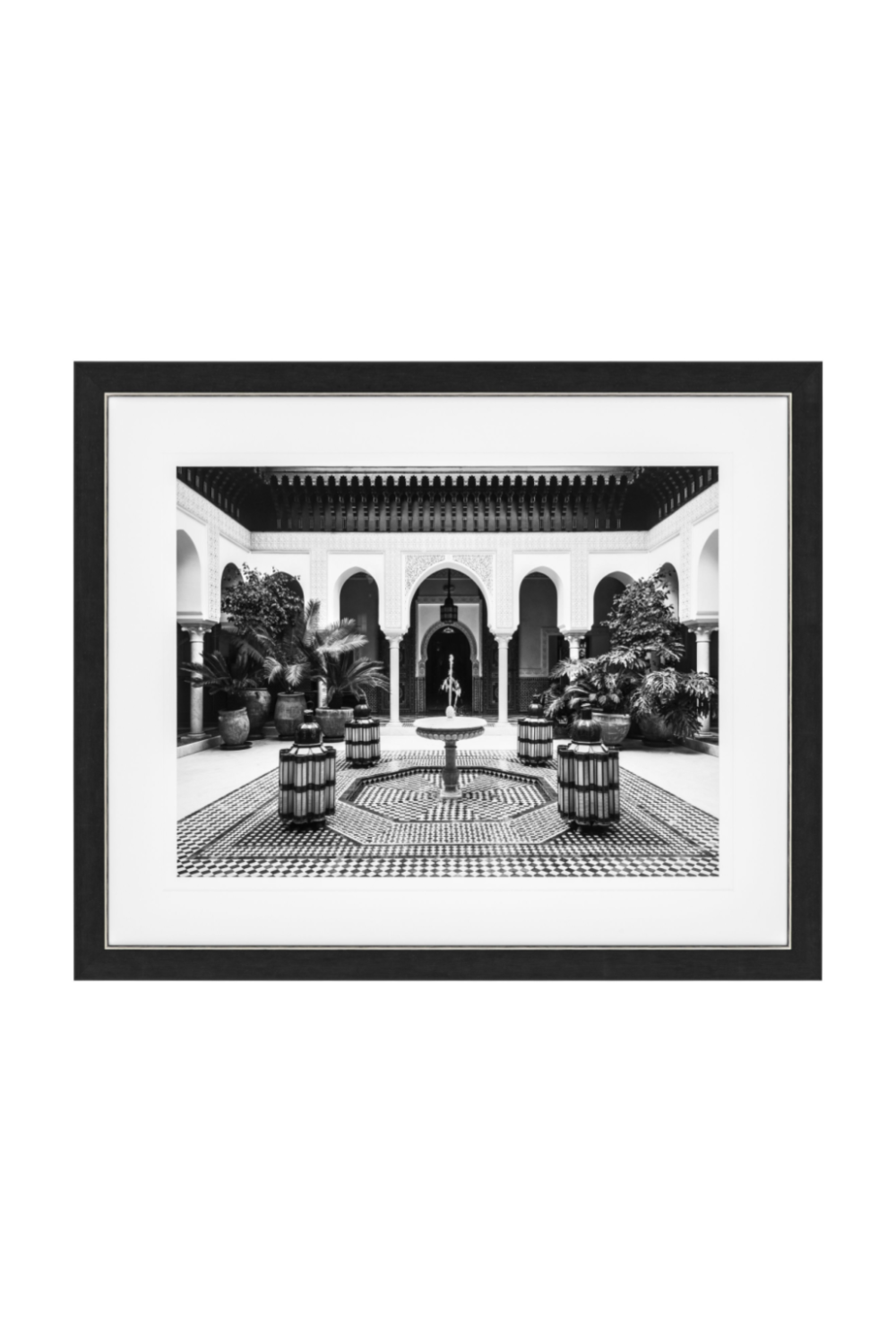 B&W Courtyard Print | Eichholtz Marrakech | Woodfurniture.com