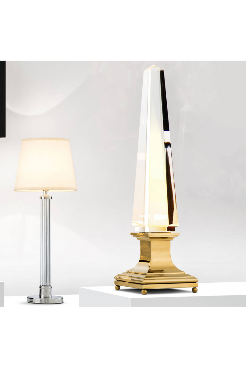 Crystal Obelisk Table Lamp | Eichholtz Solaire | OROA Luxury Furniture