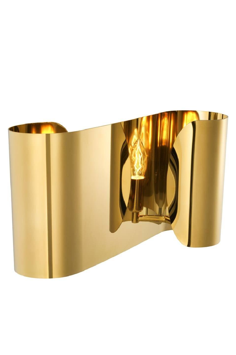 Curved Gold Wall Sconce | Eichholtz Crawley | OROA Luxury Furniture