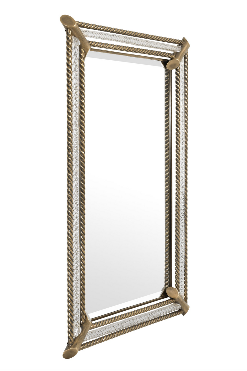 Brass Roped Frame Wall Mirror | Eichholtz Cantoni | OROA Luxury Decor