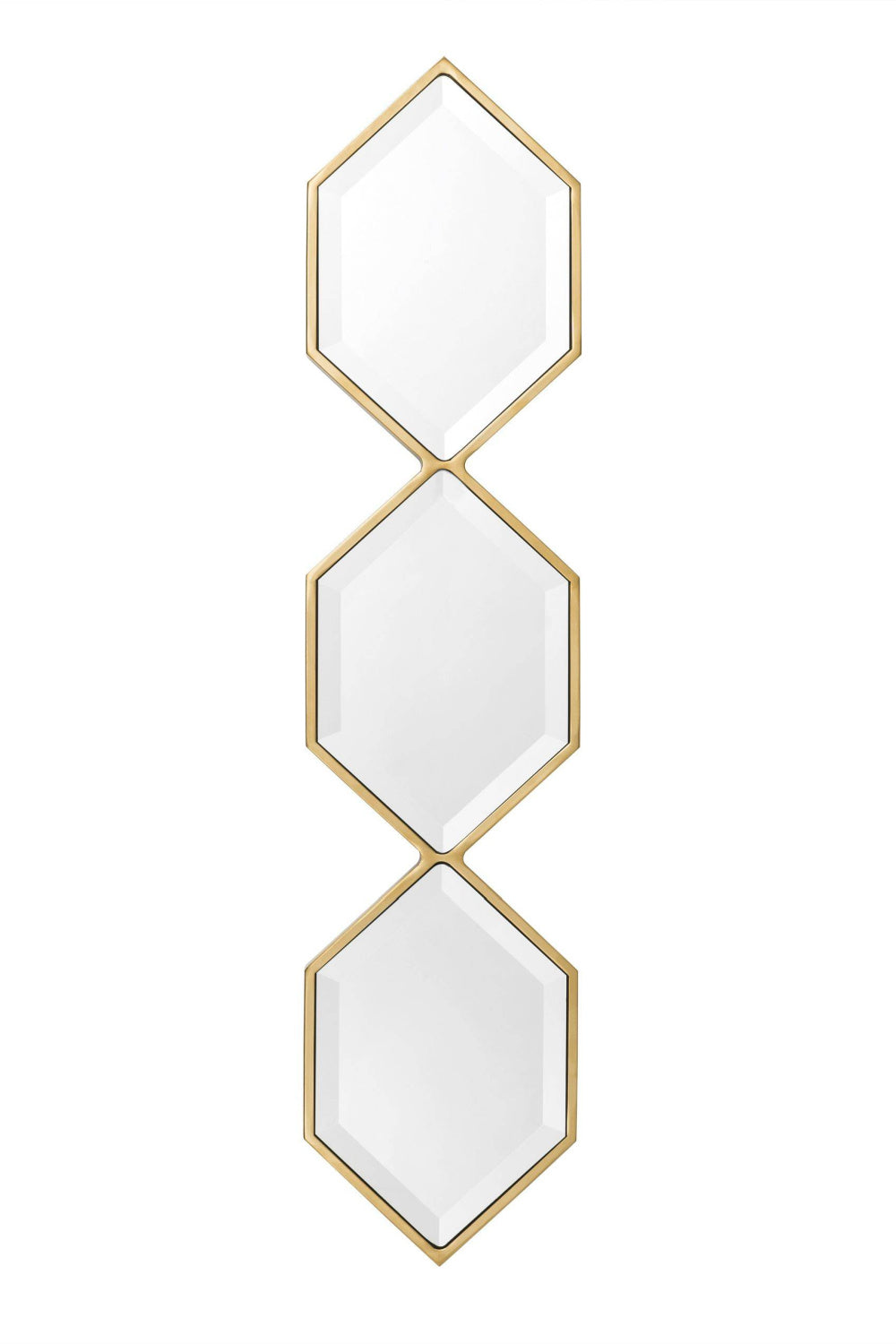 Gold Hexagonal Trio Mirror | Eichholtz Saronno