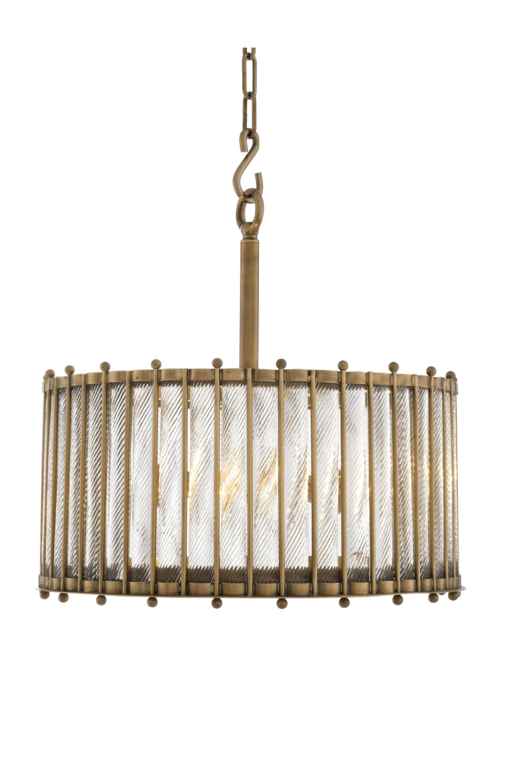 Single Glass Drum Chandelier | Eichholtz Tiziano | #1 Eichholtz Retailer