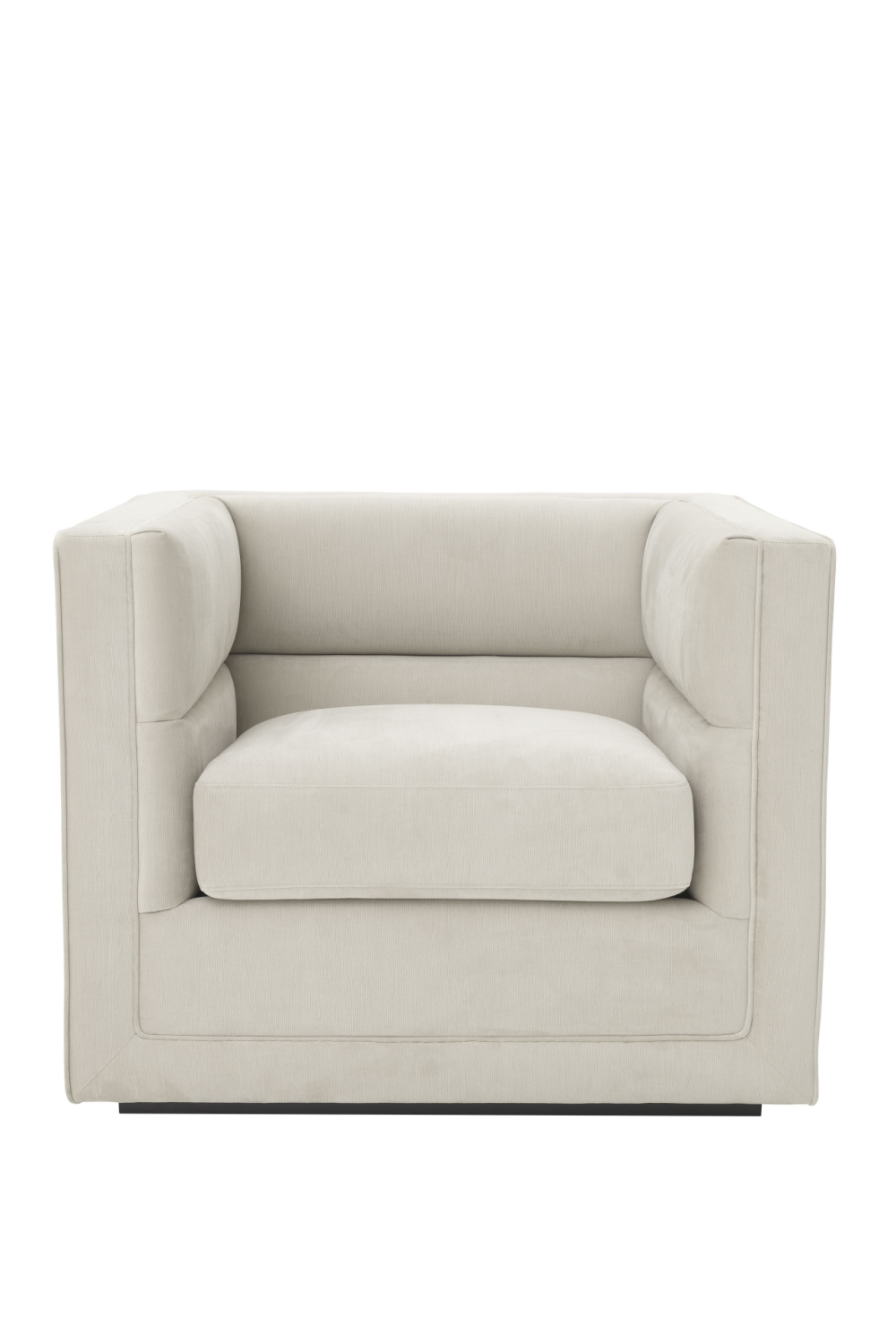 Light Gray Upholstered Armchair | Eichholtz Adonia | OROA Furniture