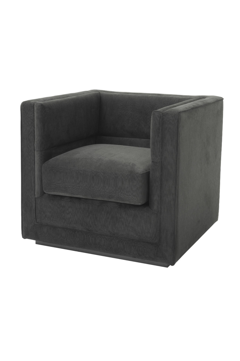 Dark Gray Upholstered Armchair | Eichholtz Adonia | OROA Furniture