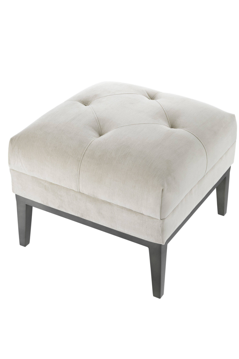 Pebble Gray Tufted Accent Stool | Eichholtz Cesare