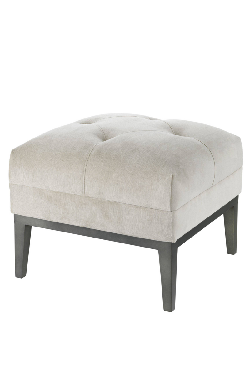 Pebble Gray Tufted Accent Stool | Eichholtz Cesare |