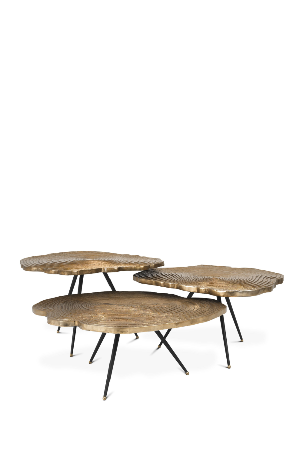Gold Wood Slice Coffee Table Set | Eichholtz Quercus