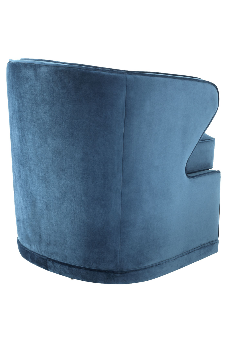 Blue Velvet Swivel Chair | Eichholtz Dorset |