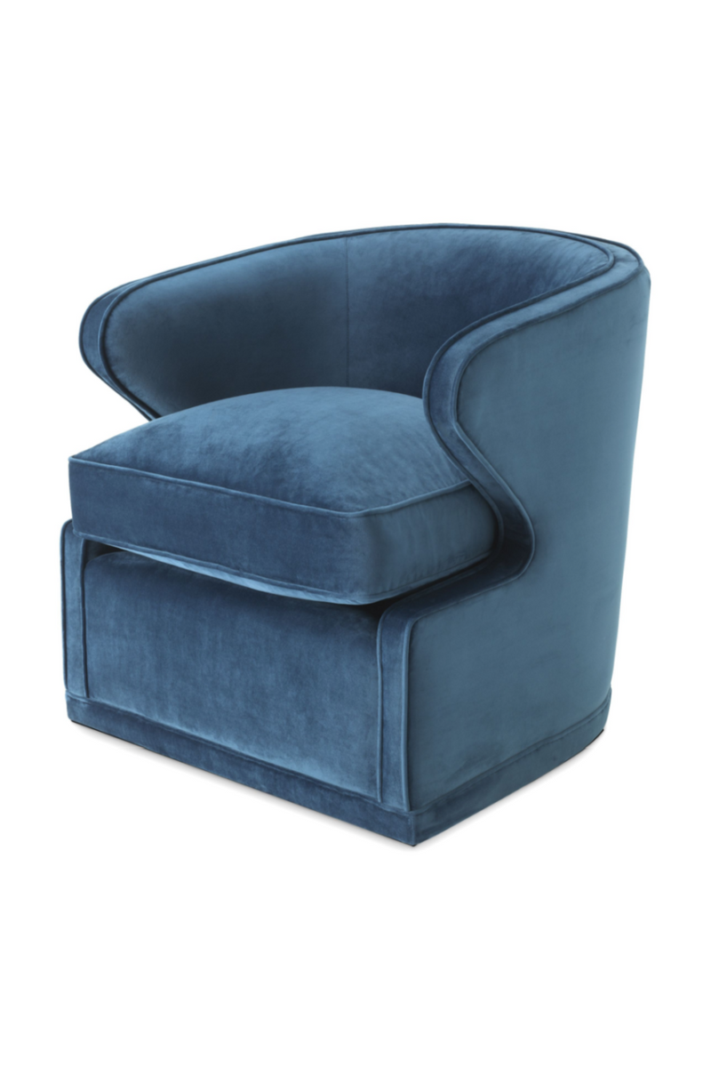 Blue Velvet Swivel Chair | Eichholtz Dorset