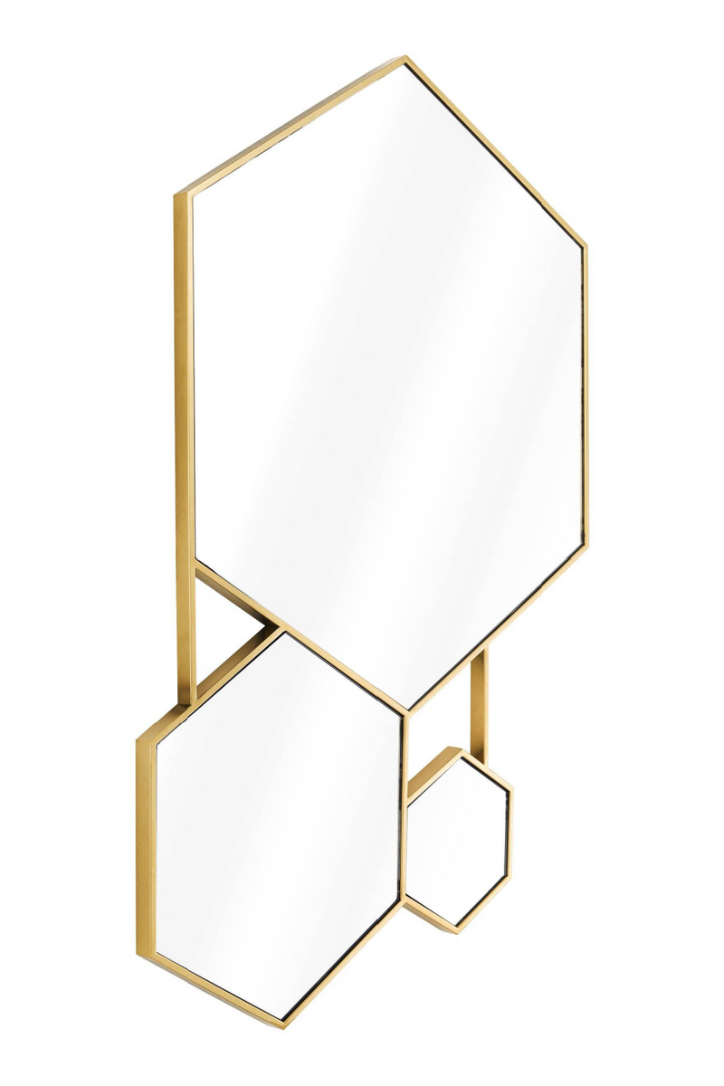 Gold Hexagon Trio Wall Mirror | Eichholtz Hexa |