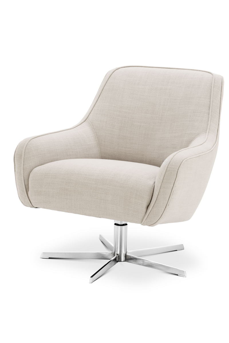 Beige Upholstered Swivel Chair | Eichholtz | #1 Eichholtz Retailer