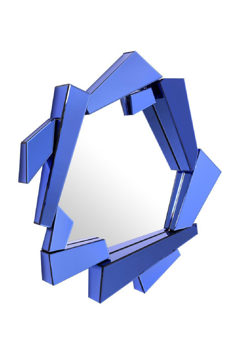 Blue Glass Frame Mirror | Eichholtz Cellino