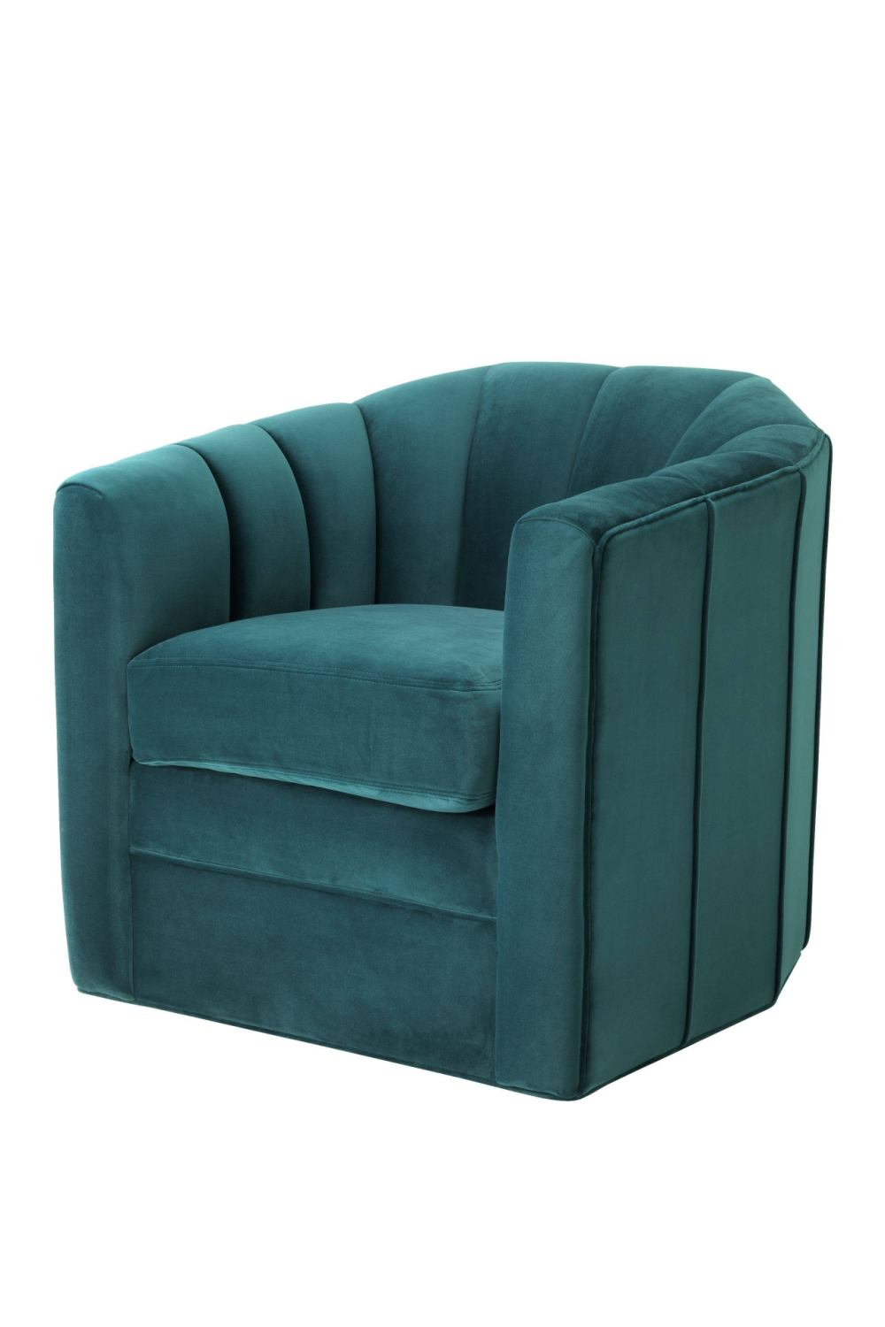 Sea Green Velvet Swivel Chair | Eichholtz Delancey | OROA Furniture