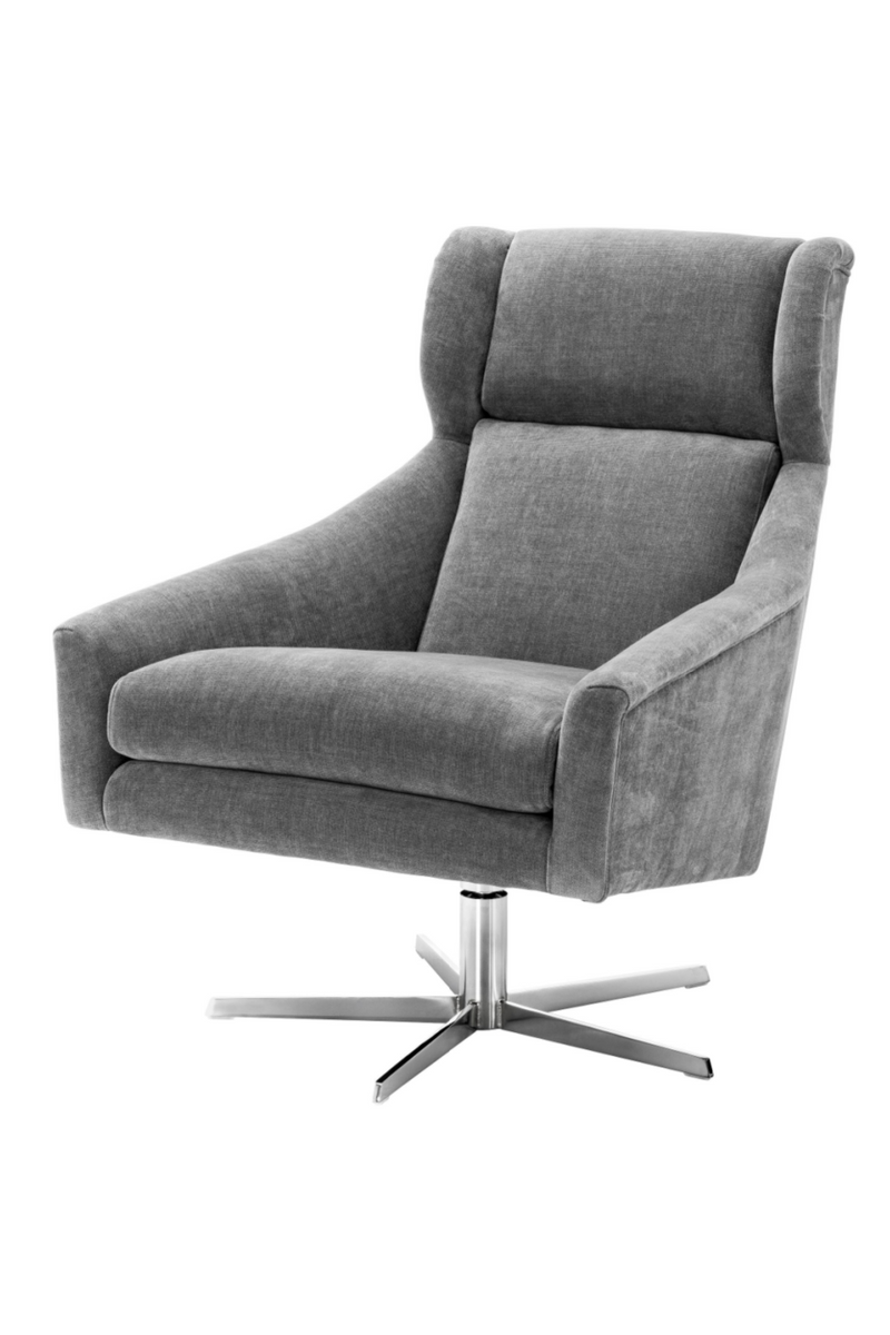 Gray Upholstered Wingback Chair | Eichholtz Nara | OROA Furniture