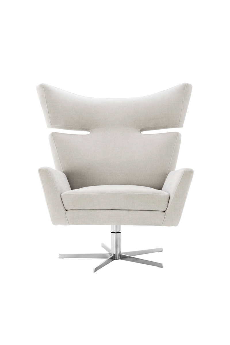 Sand Upholstered Wingback Chair | Eichholtz Eduardo | OROA Furniture
