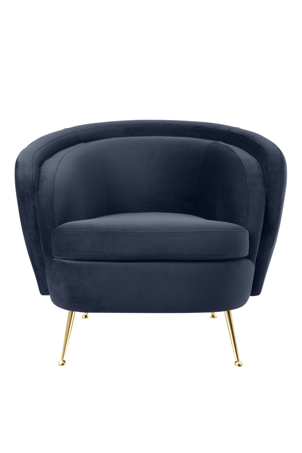 Blue Velvet Barrel Chair | Eichholtz Orion | #1 Eichholtz Retailer