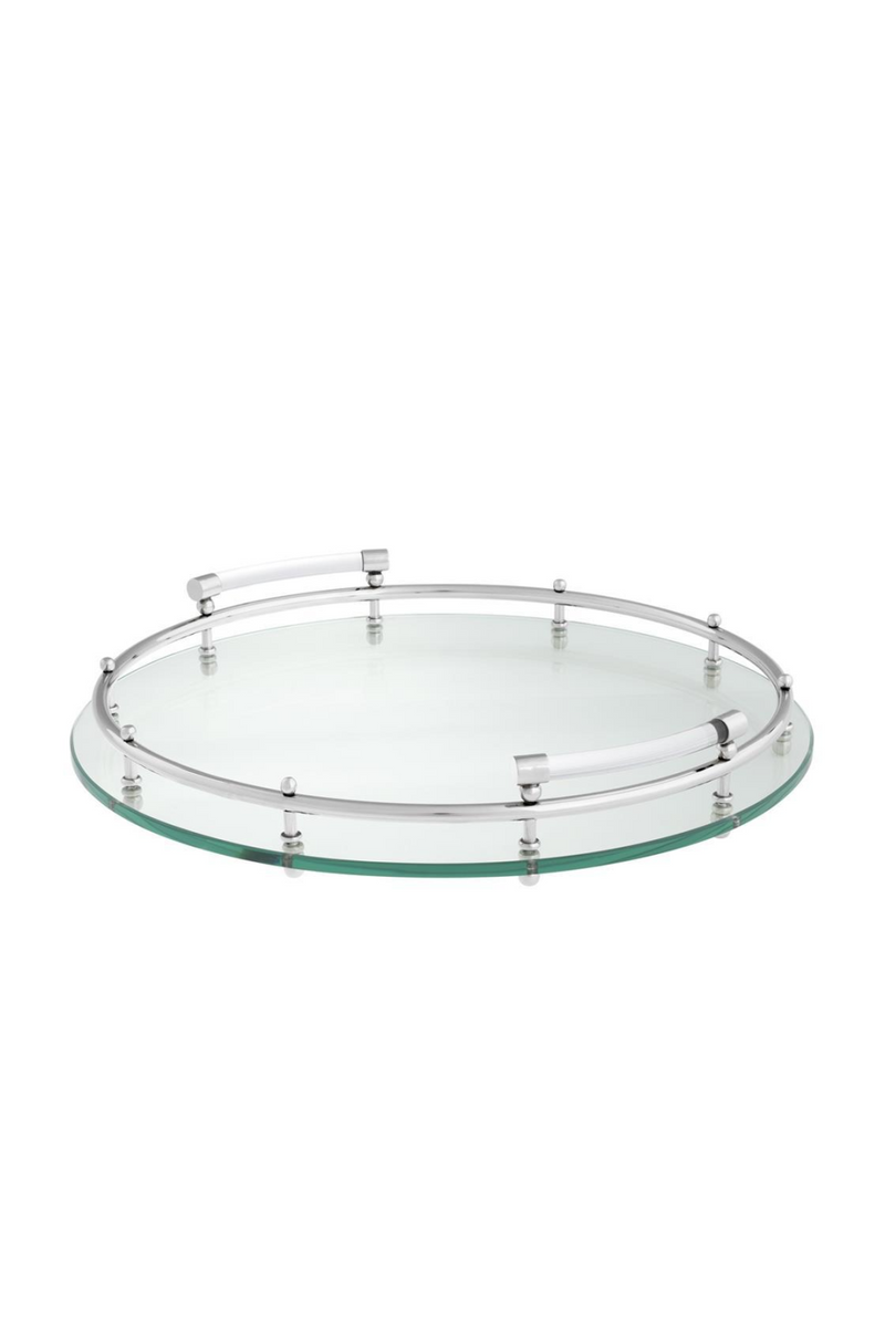 Clear Glass Round Tray | Eichholtz Mathew |
