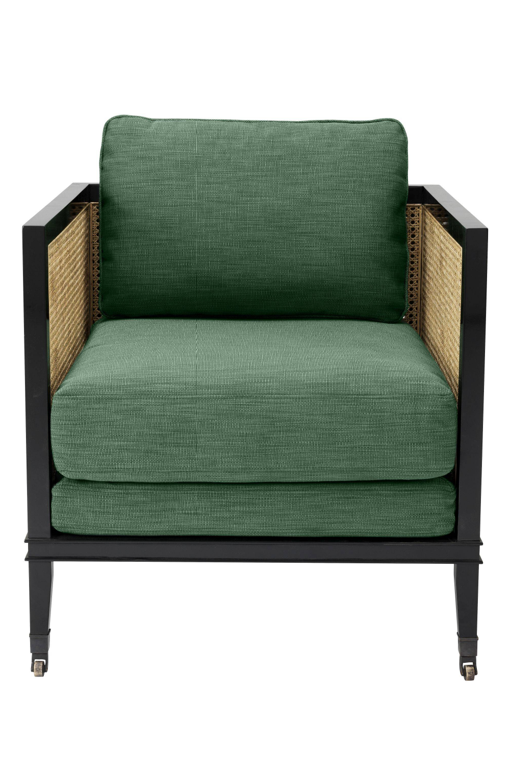 Green Upholstered Caned Armchair | Eichholtz Lauriston