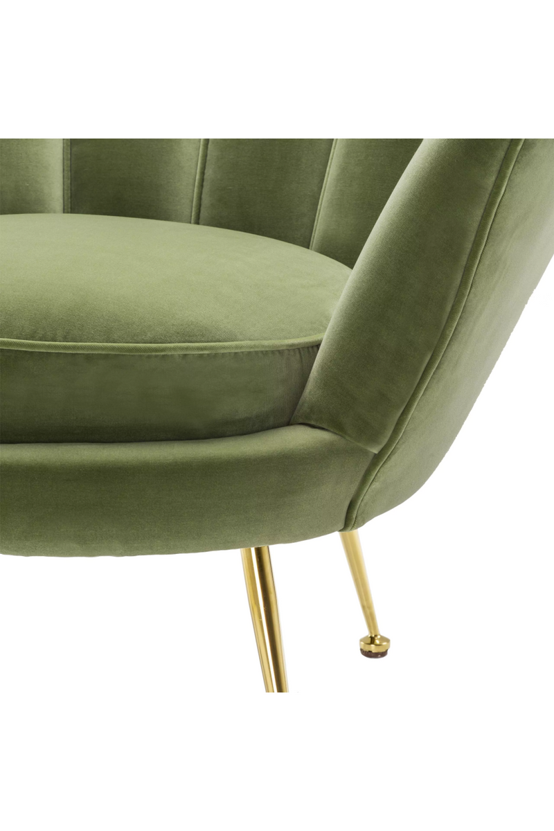 Green Scalloped Accent Chair | Eichholtz Trapezium | OROA Luxury Seat