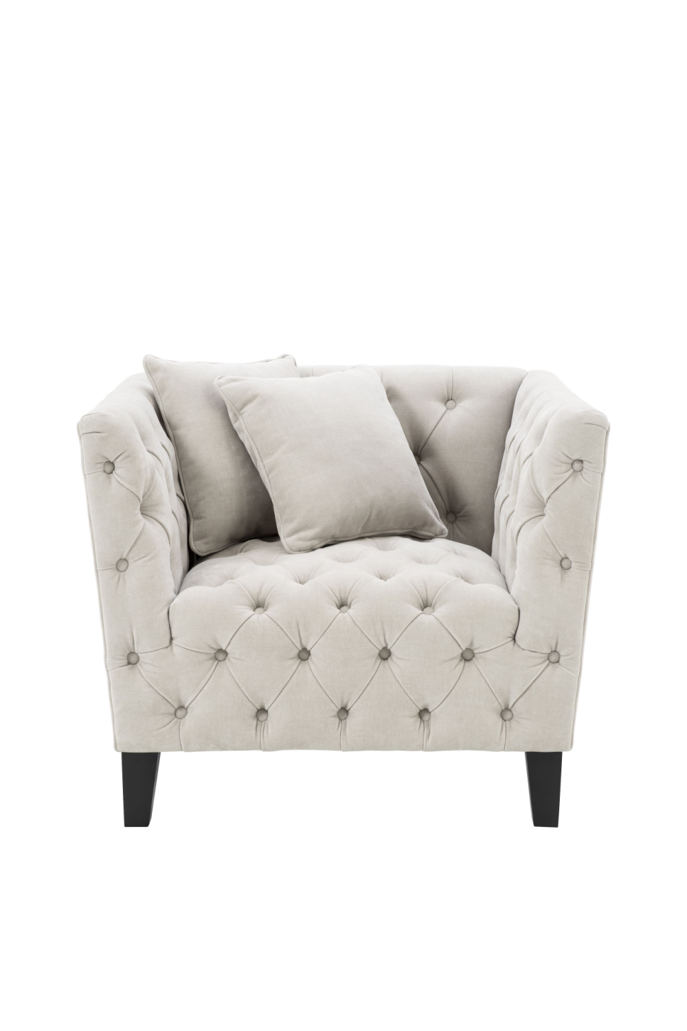 Sand Deep-Buttoned Accent Chair | Eichholtz Jason |  Woodfurniture.com