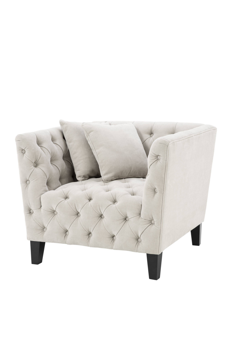 Sand Deep-Buttoned Accent Chair | Eichholtz Jason |  #1 Eichholtz Retailer